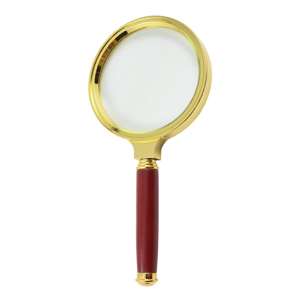 High-grade Exquisite Mahogany Handle Material Imitation Mahogany Handle Practical Gold-plated Gift Magnifier