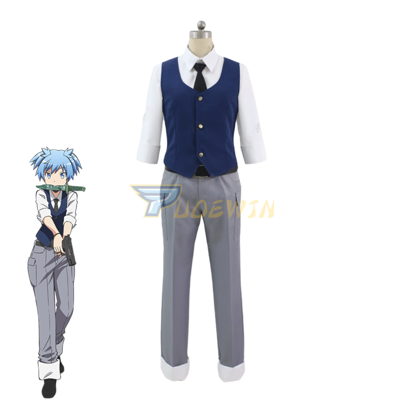 Anime Assassination Classroom Shiota Nagisa Cosplay Costume Custom Made