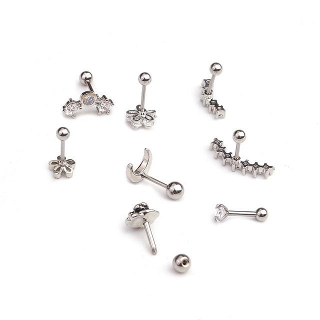 New Design Cz Curved Bar Cartilage Earring Conch Piercing Helix Stud Ear Piercing Jewelry.jpg 640x640 - New Design Cz Curved Bar Cartilage Earring Conch Piercing Helix Stud Ear Piercing Jewelry