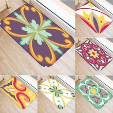 Colorful Flower Kitchen Non-slip Door Floor Mat Pad Cushion Carpet Home Decor door mat sweet heart shape cute home decor floor mat4