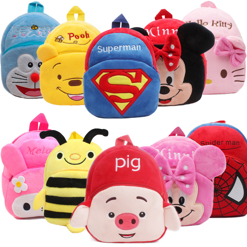 3D Cartoon School Bag Kids Plush Backpacks Mini Schoolbag Child Plush Backpack Children School Bags Girls Boys Backpacks
