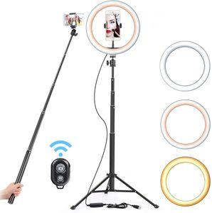 Image 1 - 16 26 سنتيمتر USB LED مصباح مصمم على شكل حلقة التصوير فلاش مصباح مع 130 سنتيمتر حامل ثلاثي القوائم ل ماكياج يوتيوب VK تيك توك فيديو عكس الضوء الإضاءة