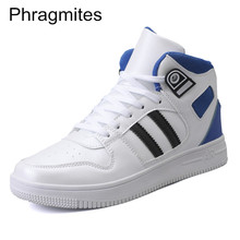 Phragmites High Top Winter Men Boots Waterproof PU Leather Shoes Footwear Lace-Up Casual Man Plus Size 46