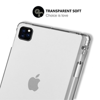 soft tpu For iPad Pro 12.9 inch 2020 Case Flexible Soft TPU Tablet Back Case Cover Anti-Scratch Protective Transparent Case With Pen Slot (4)