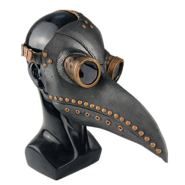 Funny Steampunk Plague Doctor Bird Mask Latex Punk Cosplay Masks Beak Adult Halloween Event Cosplay Props Accessories 3