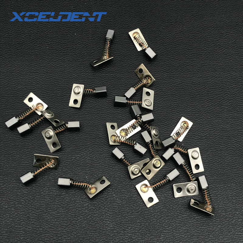 50pcs Metal Electric Motor Carbon Brushes Replace For/Saeyang Series For Dental Grinding Machine Micromotor Handpiece