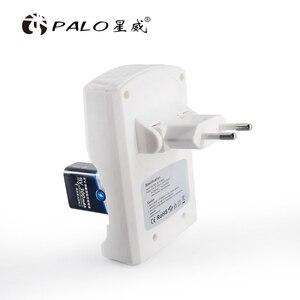 Image 4 - ホット販売4スロットバッテリ充電器のための1.2v aa aaa 6F22 9 3.7vリチウムイオンニッケル水素NI CD充電式電池高 品質のeu/米国のプラグイン