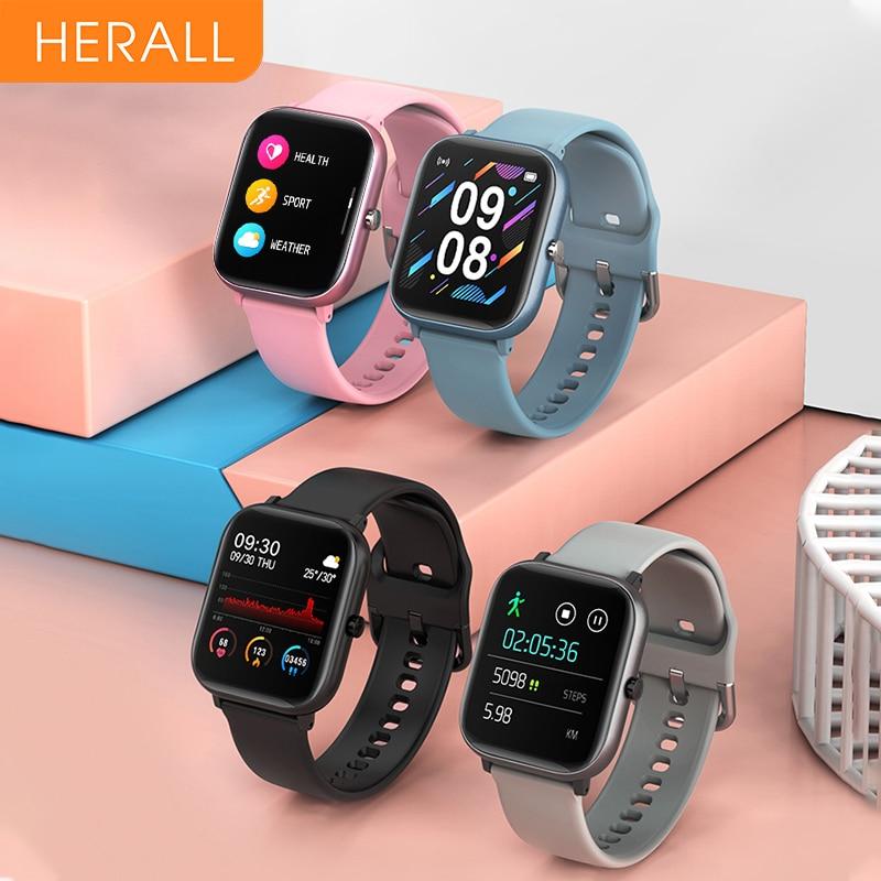 Смарт-часы HERALL для мужчин и женщин 2020 спортивные Смарт-часы фитнес-браслет монитор сердечного ритма для Android Xiaomi Apple Huawei