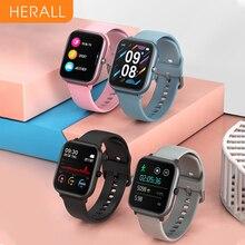 2020 herall relógio inteligente das mulheres dos homens relógios esporte smartwatch pulseira de fitness monitor de freqüência cardíaca para android xiaomi apple huawei