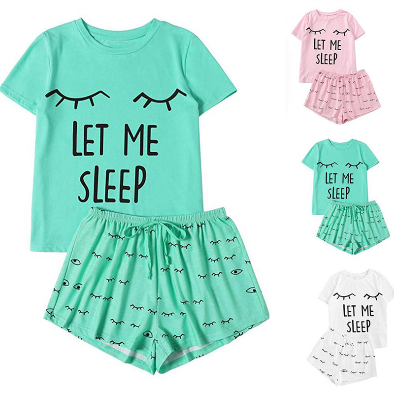 Plus Size 5XL Print Nightgowns Women Summer Cotton Pajama Set Female 2020 Casual Short Sleeve T-Shirt And Shorts Home Clothes