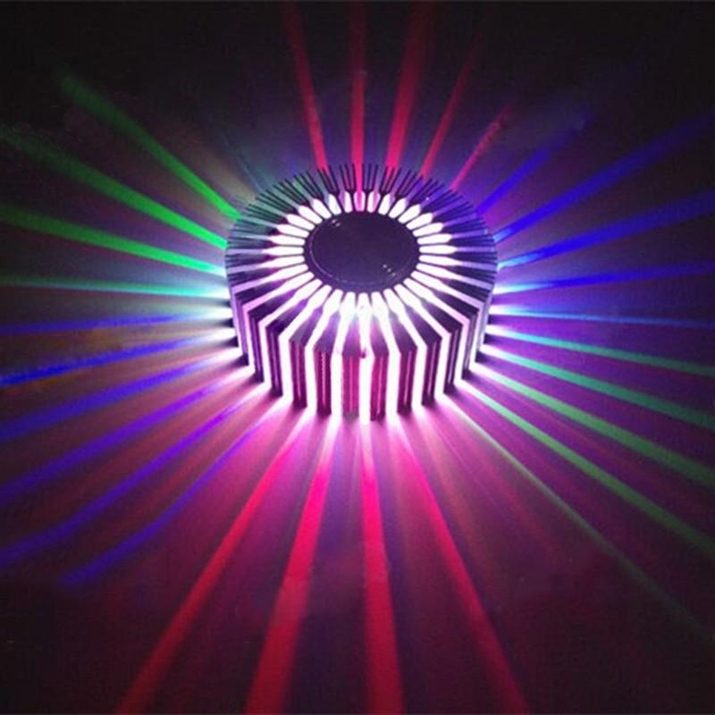 AC85-265V 3W светодиодный энергосберегающий чип настенный светильник красочные с пультом дистанционного управления Управление Солнечный настенный светильник-бра, украшенный цветами легко Установка современного дома