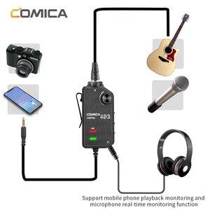 Image 2 - Адаптер Preamp для микрофона Comica AD2, аудиоадаптер 6,35 мм/XLR до 3,5 мм для телефонов iPhone, iPad, Android, DSLR, камер Canon, Nikon и гитары