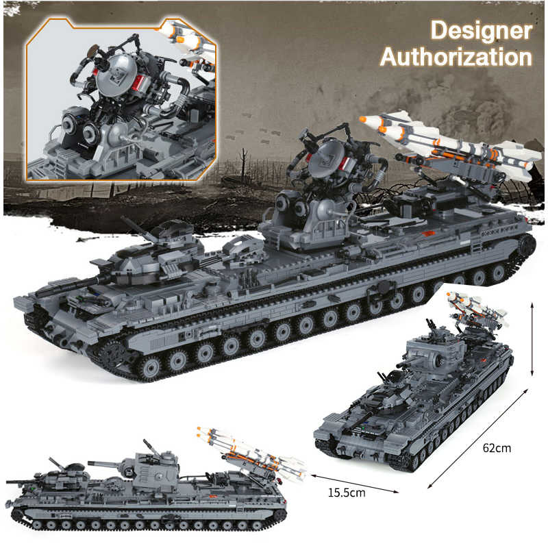 legoinglys 3663 PCS Heavy 3 Heavy firepower tank KV-2 military Building Blocks ww2 Figures Weapons for children gifts model toys