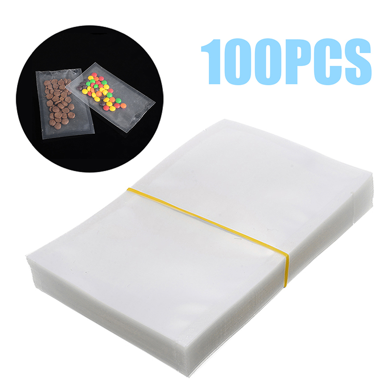 100pcs/lot Food Vacuum Storage Bags Clear Vacuum Sealer Package Bags Freezer Fresh Keep Food Bags Non-toxic Tasteless 4 Sizes