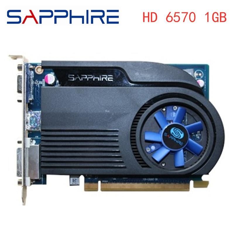 Видеокарта SAPPHIRE HD6570 1 ГБ GDDR3 AMD, графическая карта GPU Radeon HD 6570, для офисного компьютера, для карты AMD HDMI, б/у, оригинал