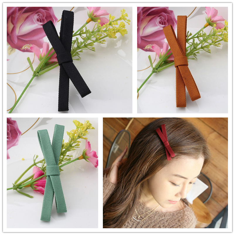 New Bowknot Hairpins Hair Barrettes Children Hair Accessories For Women Cute Girls Headwear Bow Boutique Solid Hair Clips