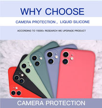 Liquid Silicone Case For iPhone 11 Pro XS Max XR X Original Soft Protection Cover For iPhone 7 8 Plus 6S 5 5S SE 2020 Phone Case