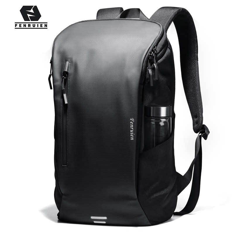FRN 2020 New Casual Men Double Backpack Outdoor Sports School Bag Men 15.6-inch Laptop Bag Multifunctional Waterproof Travel Bag