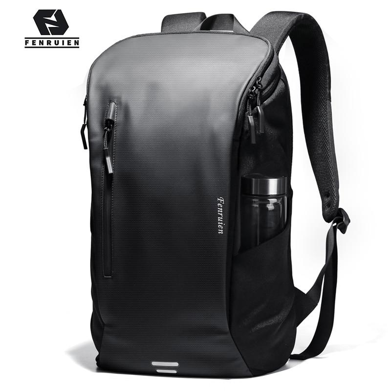 Fenruien 2020 New Men Double Backpack Outdoor Sports School Bag Men 15.6-inch Laptop Bag Multifunctional Waterproof Travel Bag