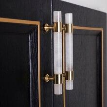 Kitchen Cupboard Furniture-Knob Brass-Knobs Natural-Stone/crystal Handle Hardware Door-Pulls
