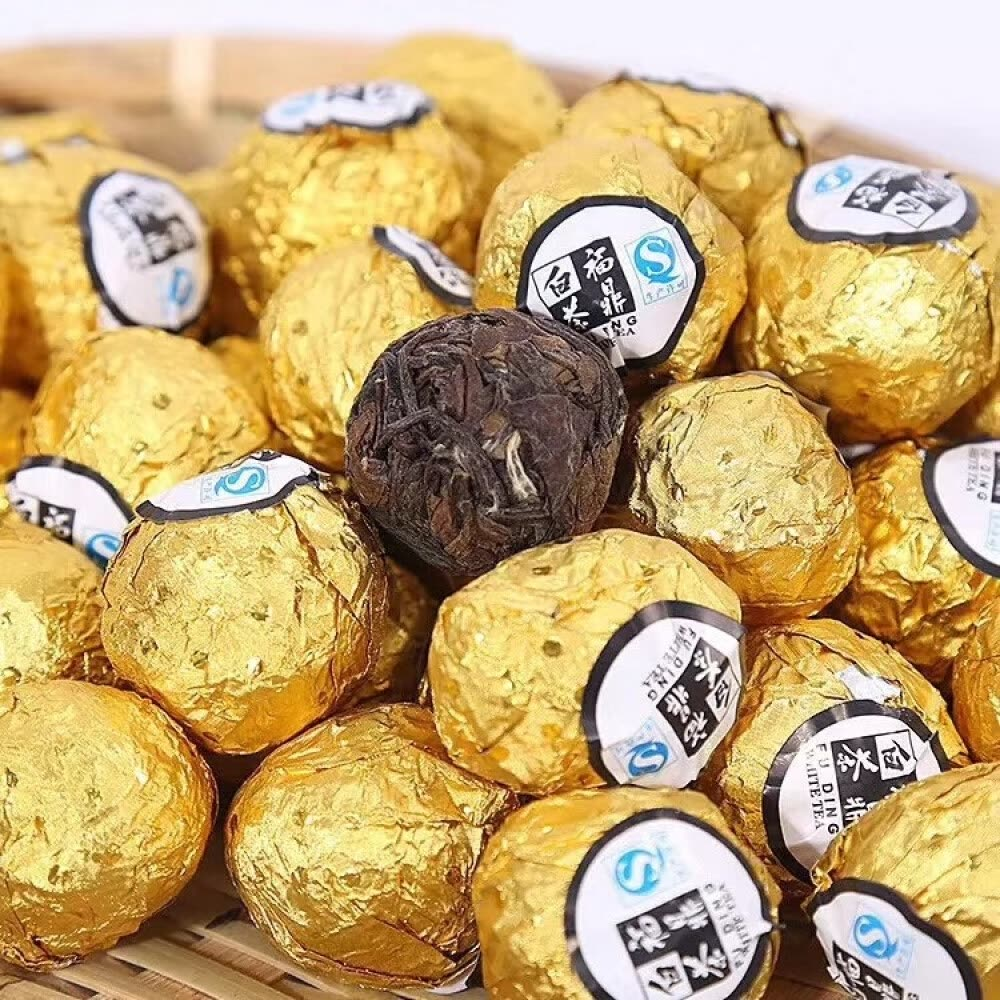 Fuding White Tea   Tea Bags Ball Xiaotuo Tea Shoumei Gongmei Longzhu Ball Old White Tea Chocolate Tea  100g