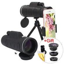 40X Zoom télescope téléobjectif téléphone portable caméra objectif Smartphones lentilles + 3in1 Fisheye grand Angle Macro Lentes pour iPhone 11