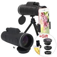 Teleobjetivo con Zoom de 40X para teléfono móvil lente de cámara, Smartphones, Lentes + ojo de pez 3 en 1, Lentes Macro de gran angular para iPhone 11