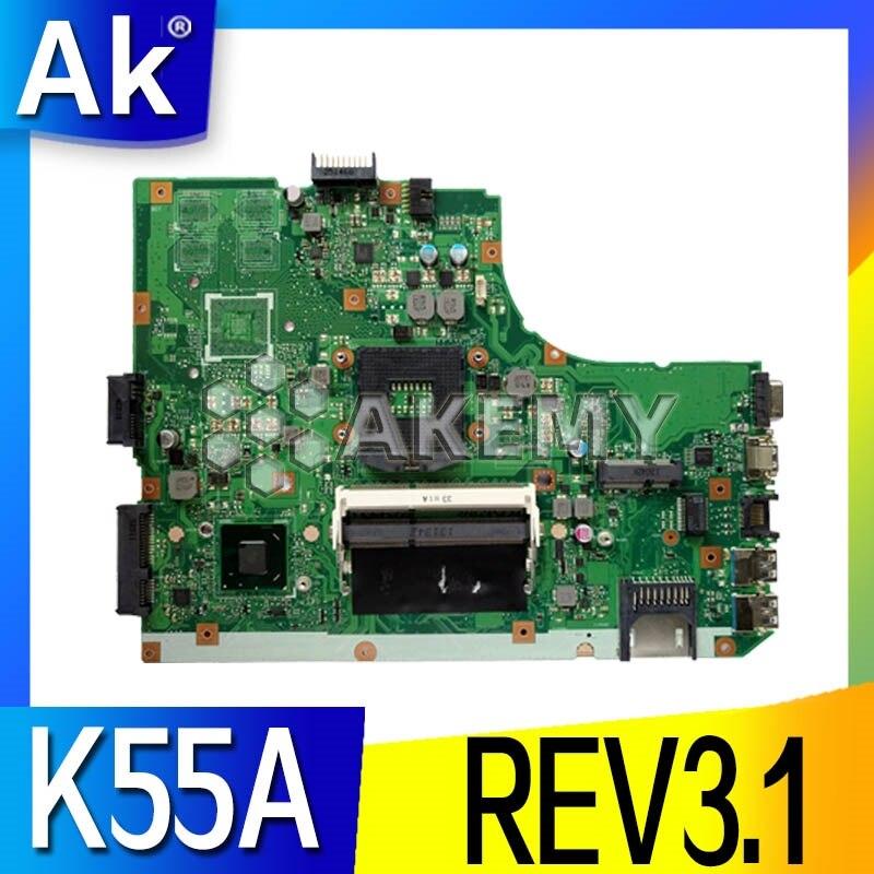 K55A For ASUS K55VD K55A motherboard REV3.1 without video card K55A Laptop motherboard original board 100% Test work