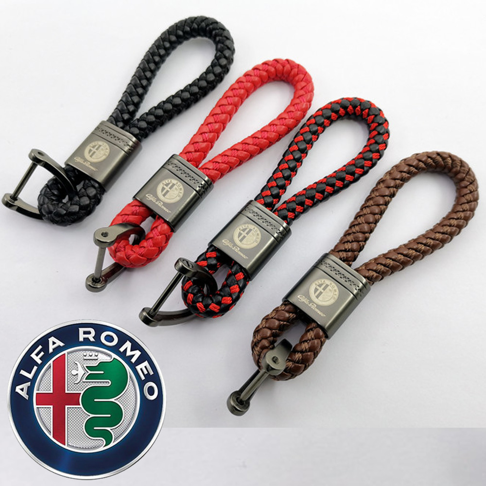 Брелок FLYJ для автомобиля, металлический кожаный брелок для ключей для Alfa Romeo Spider Giulietta 147 159 4c 8c Mito Stelvio GTV Spider