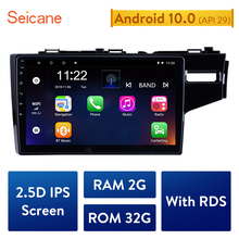 Seicane  10.1 Inch HD Quad core 2din Android 10.0 Car Radio GPS Navigation System Multimedia Player For 2014 2015 HONDA JAZZ/FIT
