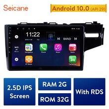 Seicane Radio Multimedia con GPS para coche, Radio con reproductor, 10,1 pulgadas, HD, Quad core, 2din, Android 10,0, para HONDA JAZZ/FIT 2014 2015