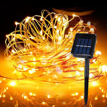 10m/20m Solar Lamp Led Outdoor Fairy Lights Holiday Christmas Garlands Garden Waterproof LED