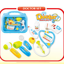 Hot Selling Children Play House Series Model Doctor Medicine Box Injection Stethoscope Suit Hospital Toy Hot Selling(China)