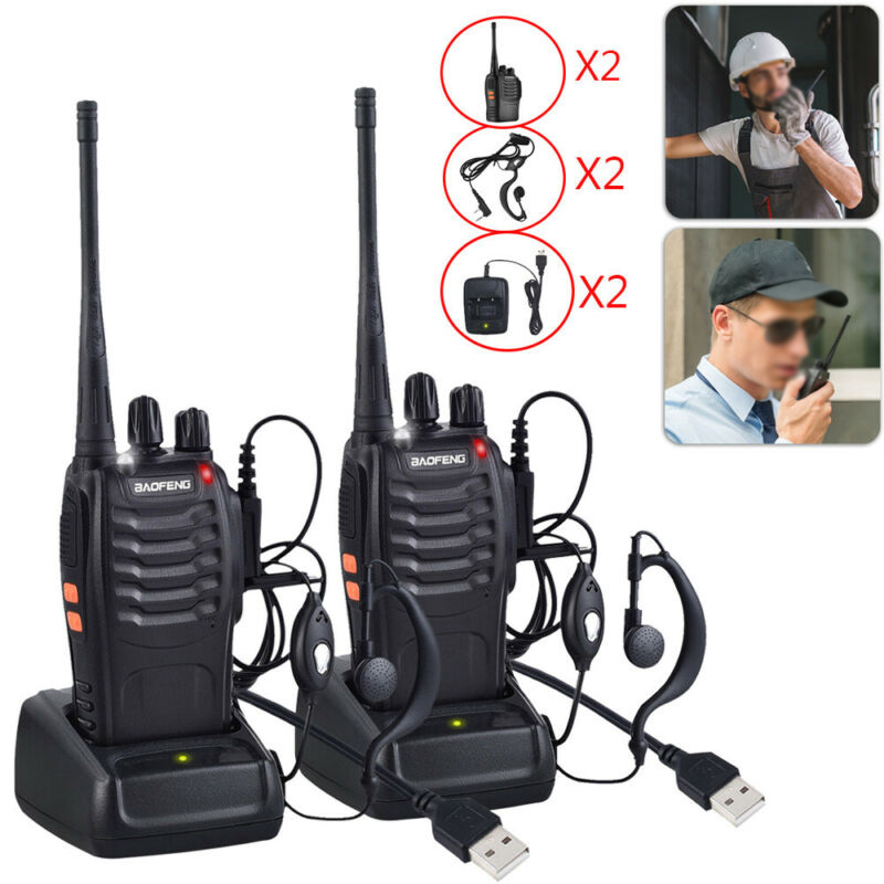Baofeng Alkie Talkie 2-Way BF-888S Radio Long Range 16CH UHF 400-470MHZ Set ABS Radio Comunicador Walkie-talkie