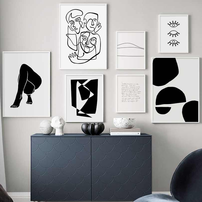 Abstract Body Art Prints Minimalist Line Nordic Posters And Prints Wall Art Canvas Painting Wall Pictures For Living Room Salon