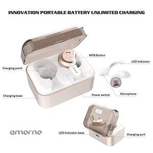 Image 2 - Amorno Wireless Eaephones in ear Earbuds Wireless Bluetooth Earphone Noise Canceling Ecouteur Sans Fil Bluetooth Bass Headset