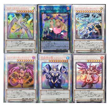 6 stylów Yu Gi Oh ciemny magik dziewczyna córka wersja japoński DIY zabawki Hobby Hobby kolekcje kolekcja gier Anime karty tanie i dobre opinie TOLOLO CN (pochodzenie) S-76 Dorośli Chiny certyfikat (3C) Fantasy i sci-fi Stardust Dragon Red Dragon Archfiend Dark Magician Girl