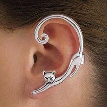 1PCS Dessin animé mignon petit animal trois dimensions chat boucles d'oreilles