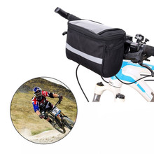 цена на Cycling Handlebar Bag Outdoor Bicycle Front Pack for Road Mountain Bike MTB Phone Holder Bag Basket Bicycle Front Bag with Strip