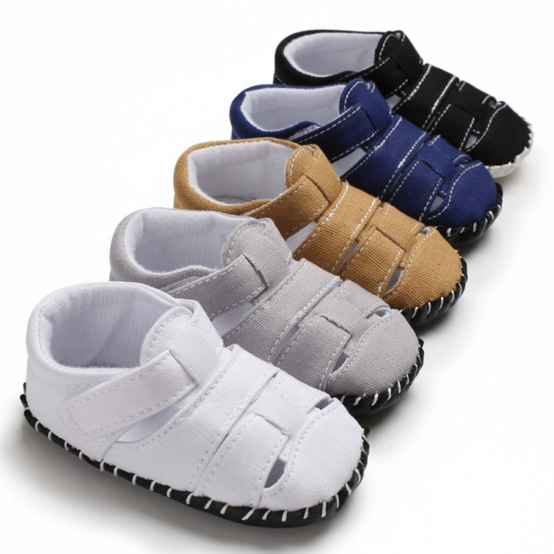 Summer Baby Boys Sandals Newborn Baby Shoes Breathable Anti-Slip Hollow Baby Sandals Toddler Soft Soled Beach Shoes