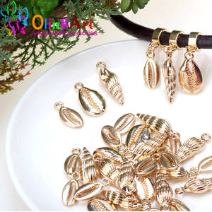Olingart 10pcs/lot Zinc Alloy KC Gold Metal Conch/shell Charms Pendants DIY Necklace Jewelry Finding Making Crafts Accessories
