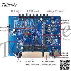 Placa de desarrollo Qualcomm IPQ4019 1300M Wave2 de doble banda, enrutamiento 4G de clase empresarial, OpenWrt tri-band
