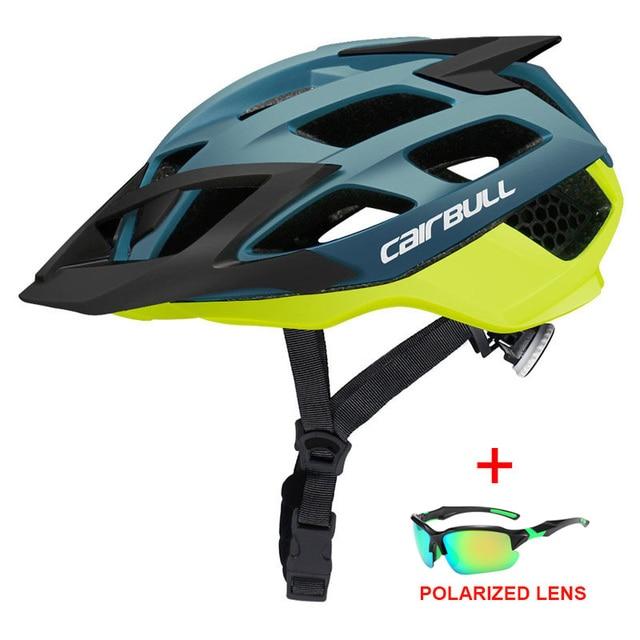 Mais novo trilha xc mtb capacete de bicicleta com óculos de sol ultraleve estrada da bicicleta de montanha capacete in-mold corrida ciclismo capacetes 1