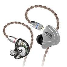 Cca c10 4ba + 1dd híbrido no ouvido fone de alta fidelidade dj monito correndo esportes fone de ouvido unidade 5 unidade unidade destacável destacam cabo 2pin