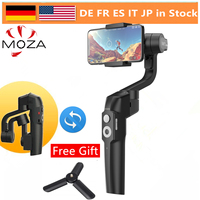 MOZA Mini S katlanabilir 3-Axis el Gimbal sabitleyici iPhone X Samsung S8 Huawei P30 Smartphone GoPro VS MINI MI pürüzsüz 4