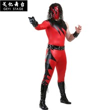 new Halloween Kane Costumes WWE Super Star Costume Cosplay celebrity party ball Stage performance clothes Adult Jumpsuit(China)