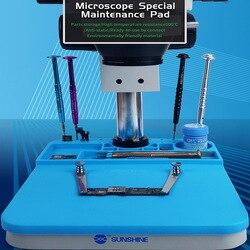Alto Isolamento Microscopio Pad Super Silicone Micro Saldatura Zerbino Vestito per Tutti I B1 Microscopio Base RL-004M Con Slot Di Memoria