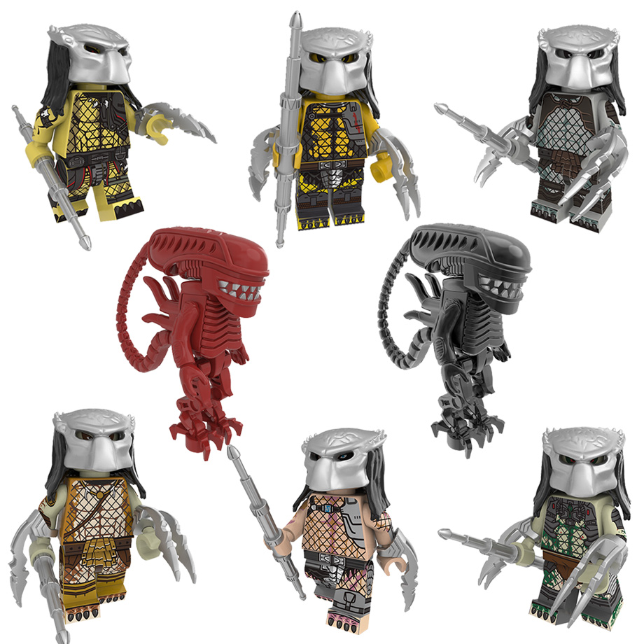 Single Sale Movie Alien Predator Figure Space Jockey Prometheus Ellen Ripley Parasite Building Blocks Set Bricks Toy Legoing