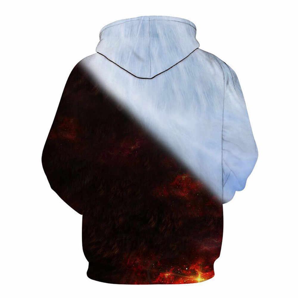 Moletom estampado wolf masculino 3d, jaqueta de homem com capuz de qualidade, blusão para meninos