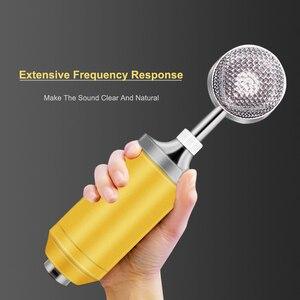 Image 3 - BM 8000 kondenser kablolu mikrofon kiti 3.5MM kayıt stüdyosu mikrofon Pop filtresi ile KTV Karaoke bilgisayar yayın